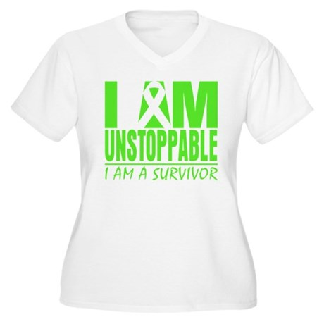 I Am Unstoppable Lymphoma Women's Plus Size V-Neck