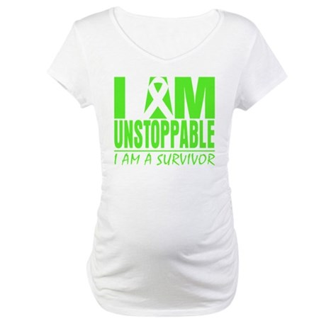 I Am Unstoppable Lymphoma Maternity T-Shirt