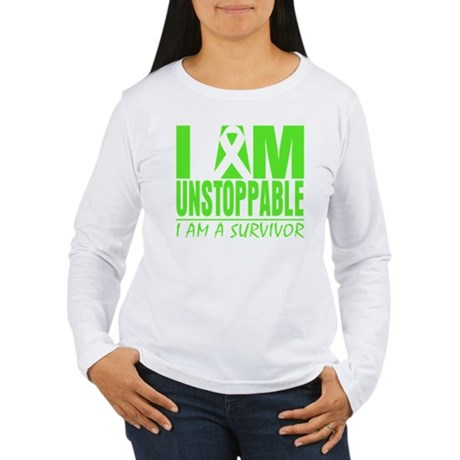I Am Unstoppable Lymphoma Women's Long Sleeve T-Sh