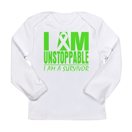I Am Unstoppable Lymphoma Long Sleeve Infant T-Shi