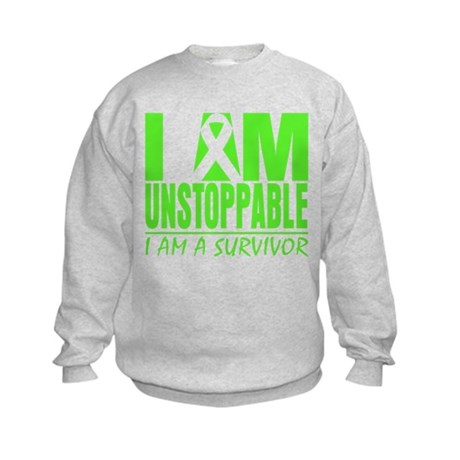 I Am Unstoppable Lymphoma Kids Sweatshirt