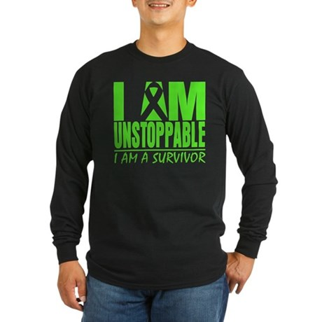 I Am Unstoppable Lymphoma Long Sleeve Dark T-Shirt