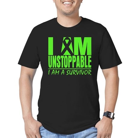 I Am Unstoppable Lymphoma Men's Fitted T-Shirt (da