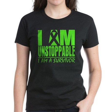 I Am Unstoppable Lymphoma Women's Dark T-Shirt
