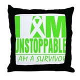 I Am Unstoppable Lymphoma Throw Pillow