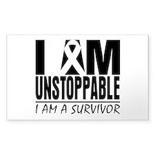 I am Unstoppable Melanoma Stickers