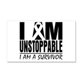 I am Unstoppable Melanoma Car Magnet 20 x 12