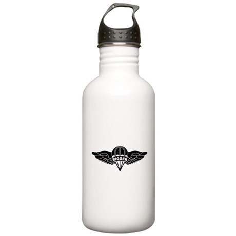 Parachute Rigger B-W Stainless Water Bottle 1.0L