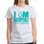Unstoppable Ovarian Cancer Women's T-Shirt