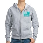 Unstoppable Ovarian Cancer Women's Zip Hoodie