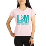 Unstoppable Ovarian Cancer Performance Dry T-Shirt
