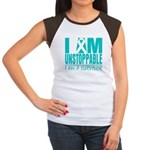 Unstoppable Ovarian Cancer Women's Cap Sleeve T-Sh