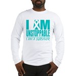 Unstoppable Ovarian Cancer Long Sleeve T-Shirt
