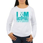 Unstoppable Ovarian Cancer Women's Long Sleeve T-S