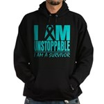 Unstoppable Ovarian Cancer Hoodie (dark)