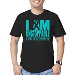 Unstoppable Ovarian Cancer Men's Fitted T-Shirt (d