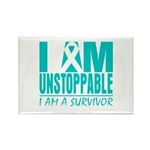 Unstoppable Ovarian Cancer Rectangle Magnet (100 p