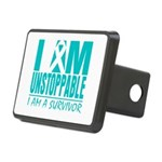 Unstoppable Ovarian Cancer Rectangular Hitch Cover