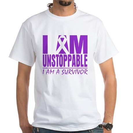 Unstoppable Pancreatic Cancer White T-Shirt
