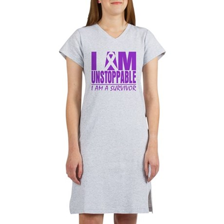 Unstoppable Pancreatic Cancer Women's Nightshirt