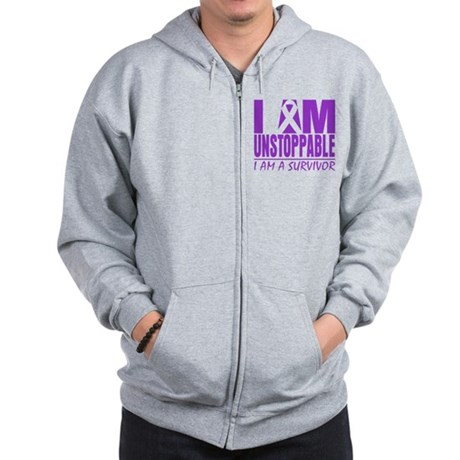 Unstoppable Pancreatic Cancer Zip Hoodie