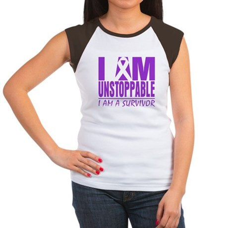 Unstoppable Pancreatic Cancer Women's Cap Sleeve T