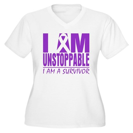 Unstoppable Pancreatic Cancer Women's Plus Size V-