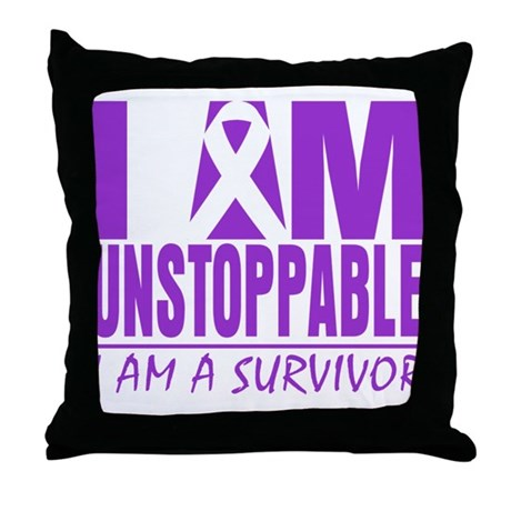 Unstoppable Pancreatic Cancer Throw Pillow