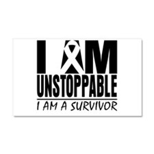 Unstoppable Skin Cancer Car Magnet 20 x 12