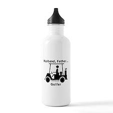 Husband, Father, Golfer Water Bottle