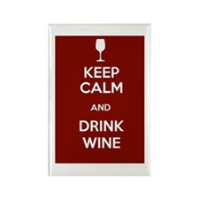 Keep Calm and Drink Wine Rectangle Magnet