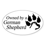 Owned by a German Shepherd  Aufkleber