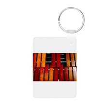 Marimba Aluminum Photo Keychain