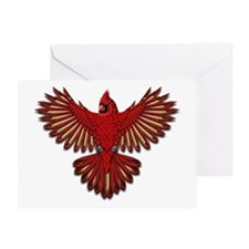 Beadwork Cardinal Greeting Card