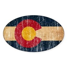 Colorado Flag Pegatinas