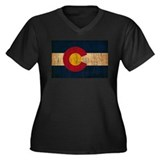 Colorado Flag Women's Plus Size V-Neck Dark T-Shir
