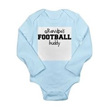 Grandpa's Football Buddy Baby Bodysuit Long Sleeve
