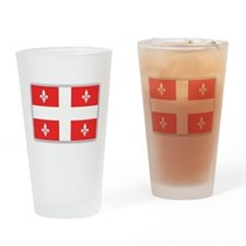 Drapeau Quebec Rouge Drinking Glass