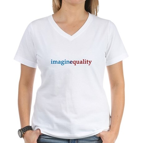imaginequality - Women's V-Neck T-Shirt
