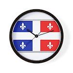 Drapeau Quebec Bleu Rouge Wall Clock