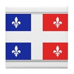 Drapeau Quebec Bleu Rouge Tile Coaster