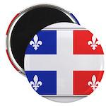Drapeau Quebec Bleu Rouge Magnet