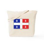 Drapeau Quebec Bleu Rouge Tote Bag