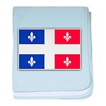 Drapeau Quebec Bleu Rouge baby blanket