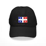 Drapeau Quebec Bleu Rouge Black Cap