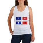 Drapeau Quebec Bleu Rouge Women's Tank Top