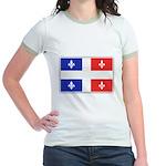 Drapeau Quebec Bleu Rouge Jr. Ringer T-Shirt