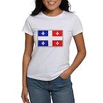 Drapeau Quebec Bleu Rouge Women's T-Shirt