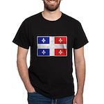 Drapeau Quebec Bleu Rouge Dark T-Shirt
