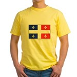 Drapeau Quebec Bleu Rouge Yellow T-Shirt